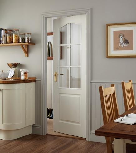 White primed glazed internal doors - Interior doors supplied and fitted ...