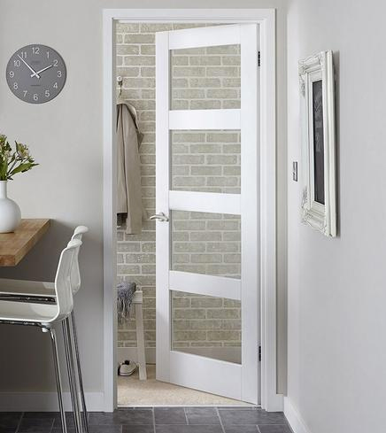 White Primed Glazed Internal Doors