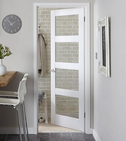 White Primed Glazed Internal Doors